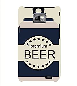 FUSON Sketchy Beer Cans Drink 3D Hard Polycarbonate Designer Back Case Cover for Samsung Galaxy S2 I9100 :: Samsung I9100 Galaxy S Ii