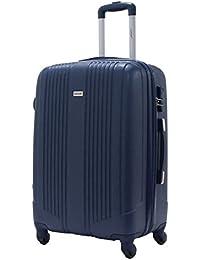 Maleta Talla Media 65cm - ALISTAIR AIRO - ABS extremista Ligero - 4 ruedas Azul marino