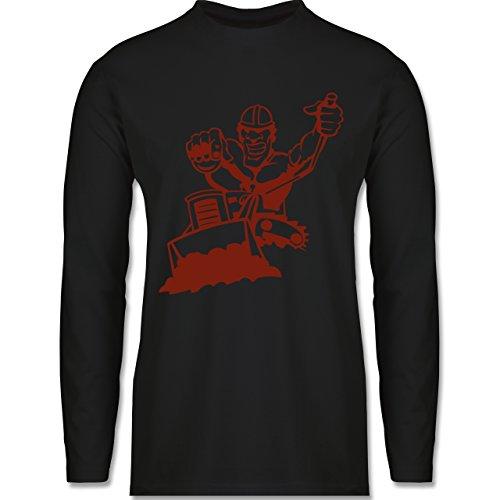 Handwerk - Raupenfahrer - Longsleeve / langärmeliges T-Shirt für Herren Schwarz