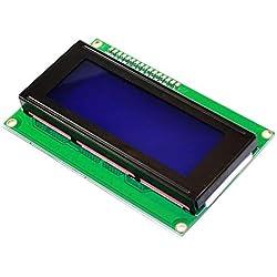 KEYESTUDIO LCD Kit I2C 2004/20 x 4 Pantalla LCD Módulo Shield para Arduino UNO Mega 2560, Raspberry Pi Blanco Letras en Azul