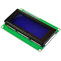 KEYESTUDIO LCD Kit I2C 2004/20 x 4 Pantalla LCD M¨®dulo Shield para Arduino UNO Mega 2560, Raspberry Pi Blanco Letras en Azul