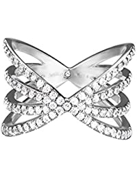 Esprit Damen-Ring JW52892 925 Silber rhodiniert Zirkonia weiß Rundschliff - ESRG92679