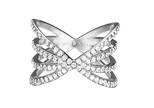 ESPRIT Damen-Ring JW52892 925 Silber rhodiniert Glas transparent Gr. 57 (18.1)-ESRG92679A180