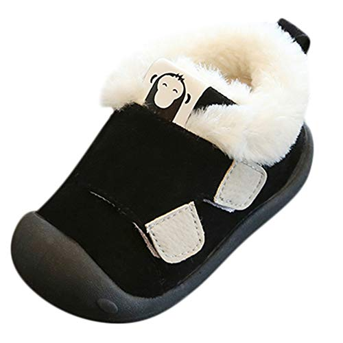 Zerototens Baby Winter Shoes,0-3 Years Old Newborn Infant Baby Boys Girls Sneakers Toddler Kids Warm Fluffy Walkers Child Soft Sole Thick Warm Cotton Shoes Running Shoes