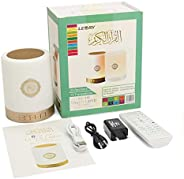 RuleaxAsi Portable Wire-less BT Quran Speaker with Remote Control MP3 Player FM Radio 7-Color Led Night Light