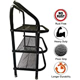 Asthra™ Foldable Shoe Rack with 3 Shelves (Metal Rod)