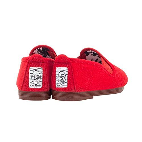 Flossy Pamplona Espadrilles Bébé Kids-dérapant sur Plimsoll Plimsole chaussures Rouge - rouge