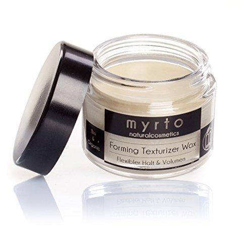 myrto-naturalcosmetics - Bio Forming Texturizer Wax | Argan Styling Haar-Wachs matt ✔ Volumen und flexibler Halt ✔ ohne Silikone ✔ Naturkosmetik ✔ Glastiegel - 50 ml