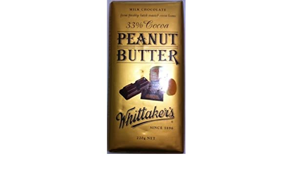 Whittakers Chocolate Block 200g Made In New Zealand Peanut Butter By Whittakers