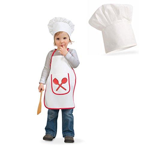 narrenwelt Kinderkostüm  Kleiner Koch  2tlg. Set PB Kinder Fasching Kostüm Schürze mit Mütze Kinderkostüm Koch - Koch Schürze Kostüm
