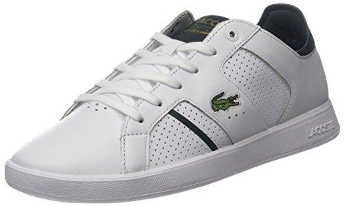 Lacoste Herren Novas Ct 118 1 SPM Sneaker, Weiß (Wht/dk Grn), 44 EU