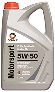 Comma MS5L 5L Motorsport Fully Synthetic 5W50 Motor Oil