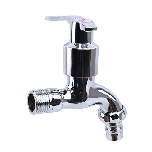 YSINFOD Waschmaschine Wasserhahn Einfache Universal Wand Badezimmer Spüle Becken Wasserhahn Metall Schnell Öffnen Wasserhahn -
