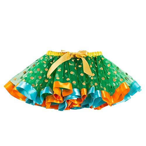 syeytx Mädchen Kleiden Sommer Nette Weibliche Freizeitkleidung Mädchen Kinder Tutu Party Dance Ballett Kleinkind Baby Kostüm Dot Print Röcke Kleidung (Nettes Mädchen Kostüm Teenager)