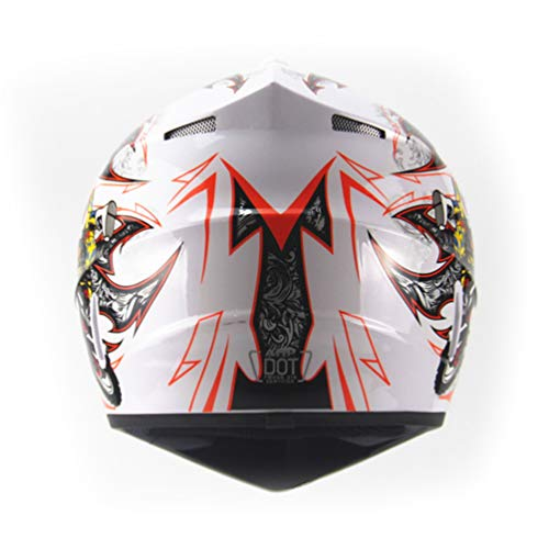 Qianliuk Casco da Moto per Adulti Motocross Casco ATV Bici Downhill Racing Casco Cross