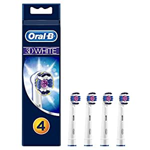 Oral-B 3D White Toothbrush Heads Pack of 4 Replacement Refills for Electric Rechargeable Toothbrush