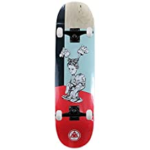 """Welcome Skateboards hedo Rick sobre Moontrimmer monopatín rojo 8,5"""""""