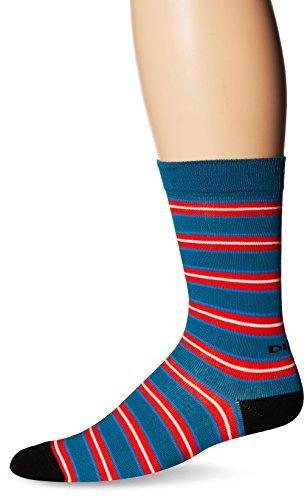 Diesel Men's Skm-Ray, Turquoise Stripe, Sock Size:10-13/Shoe Size: 6-12 image