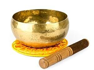 Klangschale aus Nepal mit Zubehör -1200-L-
