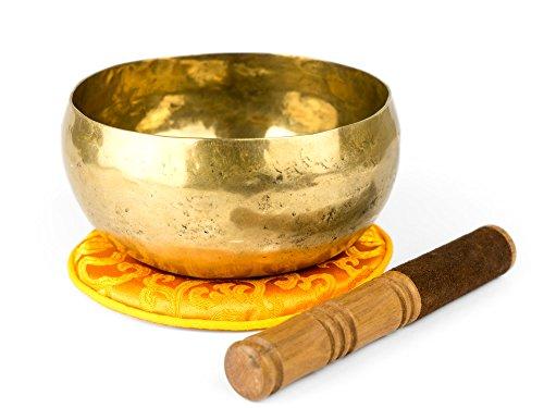 Klangschalen-Center GmbH 1200-L Bol chantant tibétain artisanal avec accessoire 600–700g