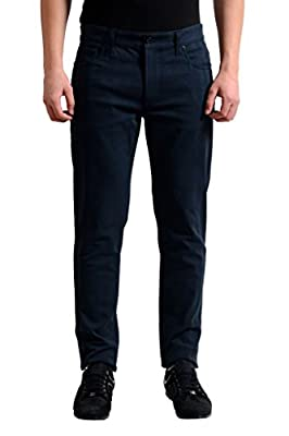 Dolce & Gabbana Dark Wash Striped Men's Slim Fit Stretch Jeans