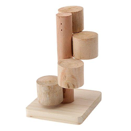 Escalier Plate-forme de Jeu Echelle Jouet en Bois pour Hamster Rat Souris