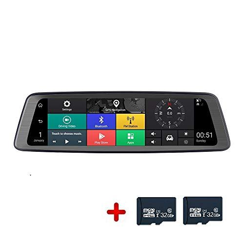 360 ° Panorama Dashcam Auto APP-Fernansicht 360 grad kamera TS Speichertechnologie Bluetooth verbundenes Telefon UKW-Radio dashcam auto vorne hinten 1080P HD Sprachsteuerung