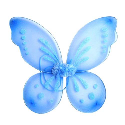 Miyanuby Kinder Mädchen Schmetterling Flügel Prinzessin Engel Halloween Flügel Party Fancy Verrücktes Kleid Fee Kostüm