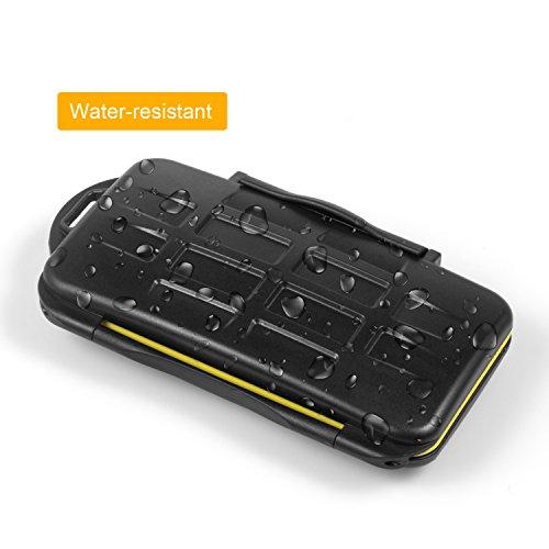 2a481ceb34 Kupton Astuccio Porta Schede di Memoria Custodia Impermeabile Antiurto  Contenitore Case che ospita 12 Schede di Memoria SDHC/SDXC Card/Micro SD  Card SD Card ...