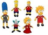 Les Simpson - Peluches Pack famille Sport plus Krusty le clown 22cm - Qualité Nylex