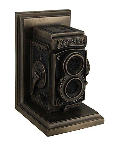 Vintage TLR Kamera Deko Bronze Finish Single Buchstütze Statue -