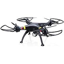 Syma X8W FPV en tiempo real 2.4Ghz 4ch 6 eje Gyro Headless RC grande Quadcopter Drone con cámara HD RTF (negro)