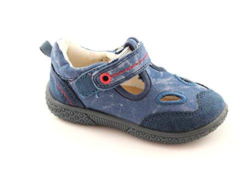 GRUNLAND RYAN PP0109 blu sandalo chiuso bambino strappo 25