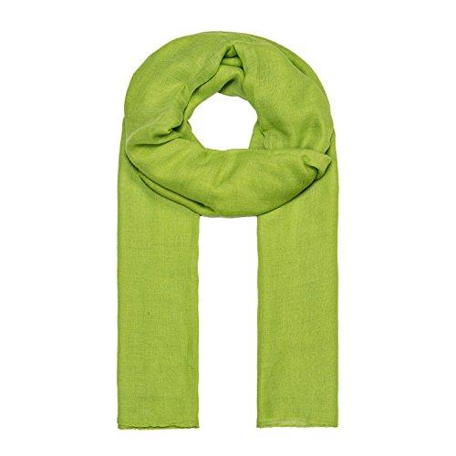 MANUMAR Schal für Damen einfarbig | Hals-Tuch in hell-grün als perfektes Sommer-Accessoire | Klassischer Damen-Schal | Stola | Mode-Schal | Geschenkidee für Frauen und Mädchen