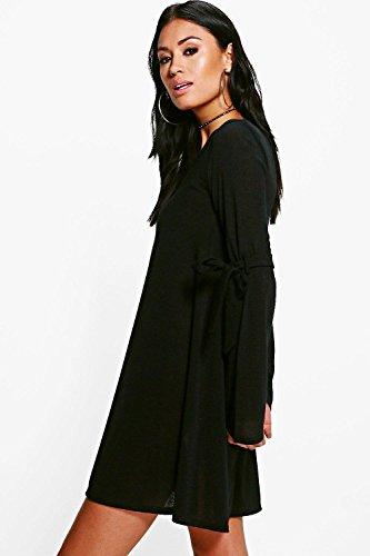 Lilas Femmes hannah robe pull trapèze à détail noué Lilas