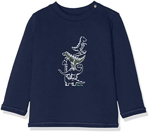 Sanetta Baby-Jungen Sweatshirt, Blau (Moon Blue 5866), 86 (Herstellergröße: 086)