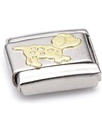 030502 Acier inoxydable et Or jaune 18 cts Maillon pour bracelet composable Mixte Nomination