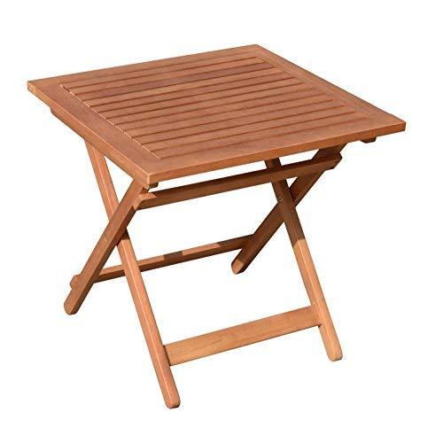 Eucalipto Jardín Mesa – 50 x 50 cm – Mesa plegable bistro mesa de ...