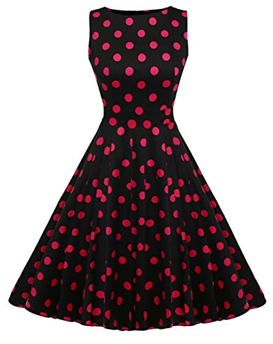 Hqclothingbox Damen A-Linie Kleid mehrfarbig mehrfarbig Rosarot
