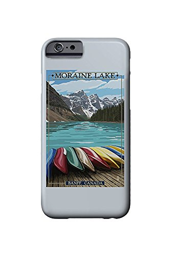 Banff, Alberta, Canada - Moraine Lake and Canoes (iPhone 6 Cell Phone Case, Slim Barely There) -