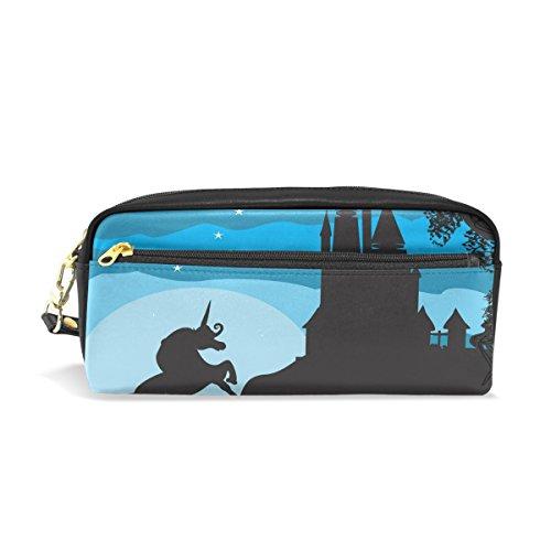 isaoa Großer Kapazität Reißverschluss Pencil-Bag Stationery Supplies für Jungen Mädchen Student Big Kapazität Creative Camouflage Bleistift Fall Castle und Einhorn Bleistift Box (Creative Castle)