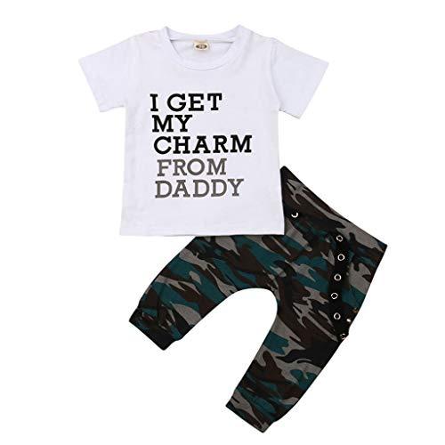 Babybekleidung, Pwtchenty Kleinkind Kind Baby Junge Outfits Kleidung Brief Tops T-Shirt Camo Hosen Set 2 Stücke Kleidung Outfits