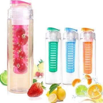 UR Drinkware 760ml Sport Fruit Infusing Infuser Water Lemon Juice Bottle BPA Free Filter by UR Drinkware