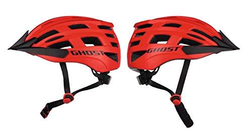GHOST Jugend Helm - in rot/schwarz - Größe 54-58 cm - Fahrradhelm // Jugendhelm