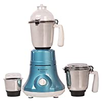Wonderchef Premium 63152535 750-Watt Mixer Grinder with 3 Jars (Blue)