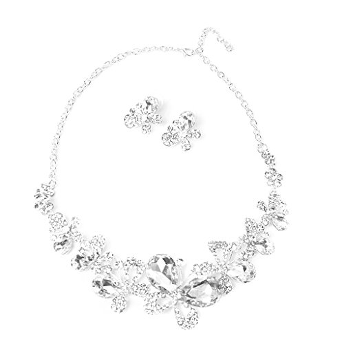 Nupcial Set Collar Pendiente Mariposa Decor Boda Fiesta Moda Joyer¨ªa Diamante