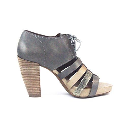 ... Lucky Brand Schnürschuh vorne offene Ferse Sandalen UK Größe 3,5 Platin