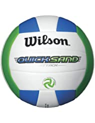 Wilson Quicksand Attack Outdoor Volleyball (Green/White/Blue)