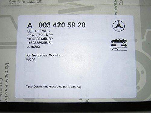 Preisvergleich Produktbild Mercedes-Benz Bremsbeläge Set A0034205920a0034205920W203C R171SLK W209CLK