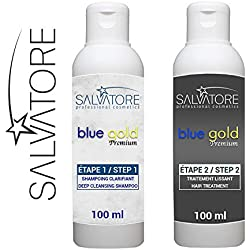 SALVATORE BLUE GOLD - TANINOPLASTIE - Lissage au Tanin (Kit 2 x 100 ml)